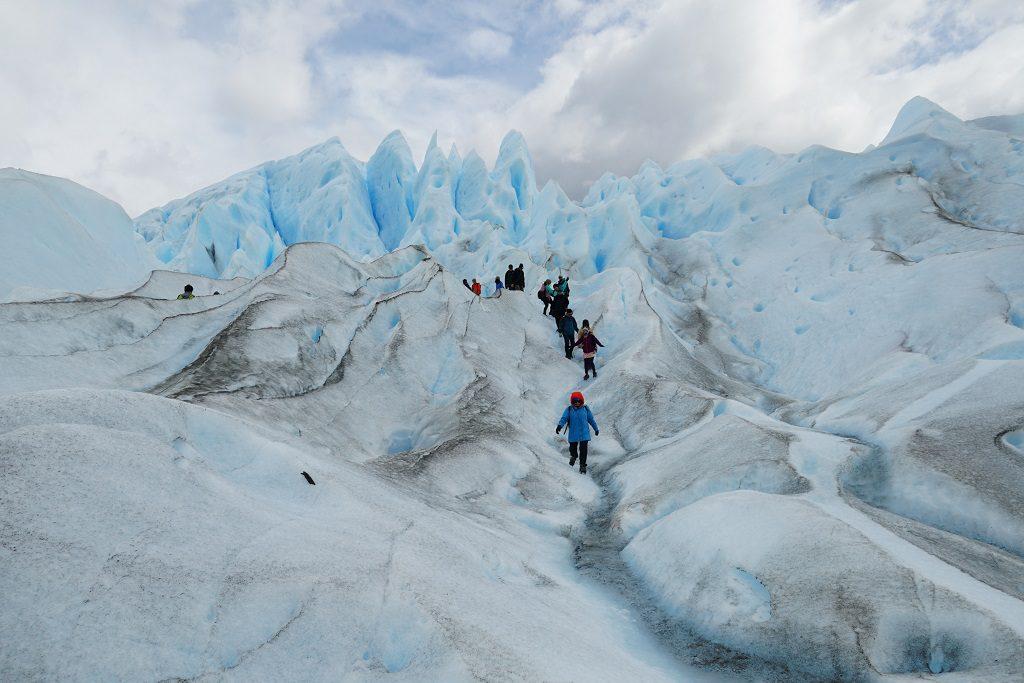 走在莫雷諾冰山上