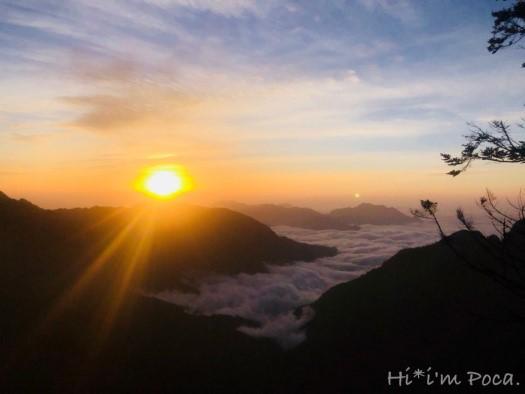 無名甘薯峰的夕陽