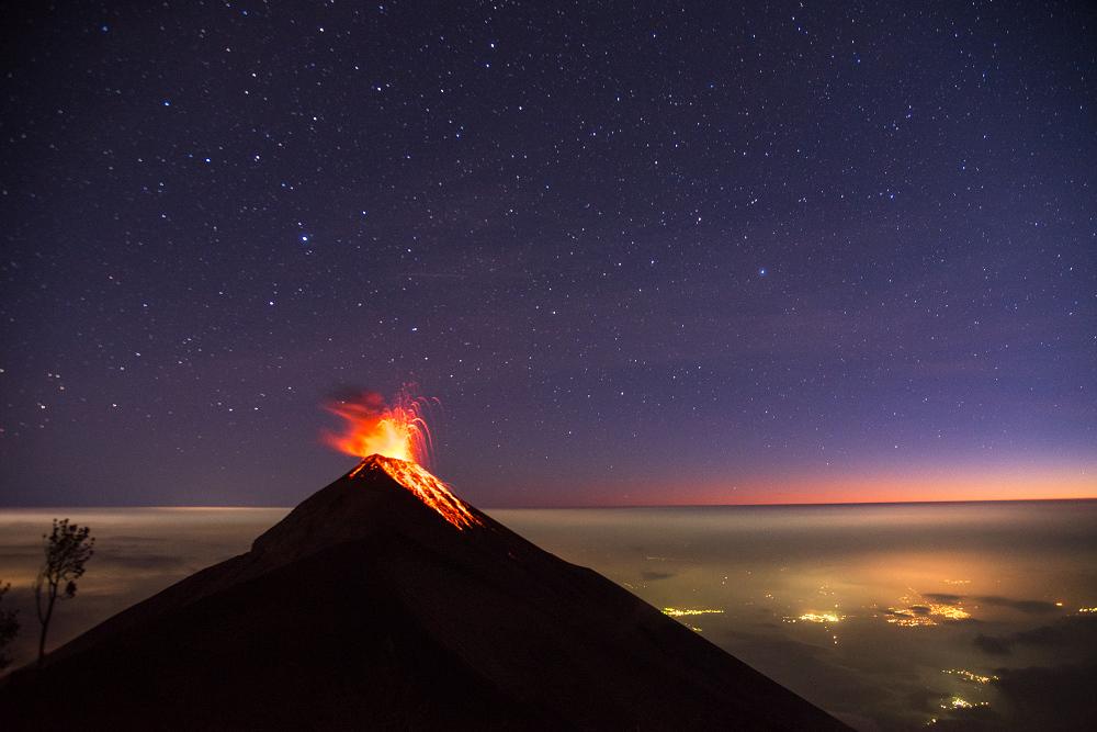 瓜地馬拉火山健行之景