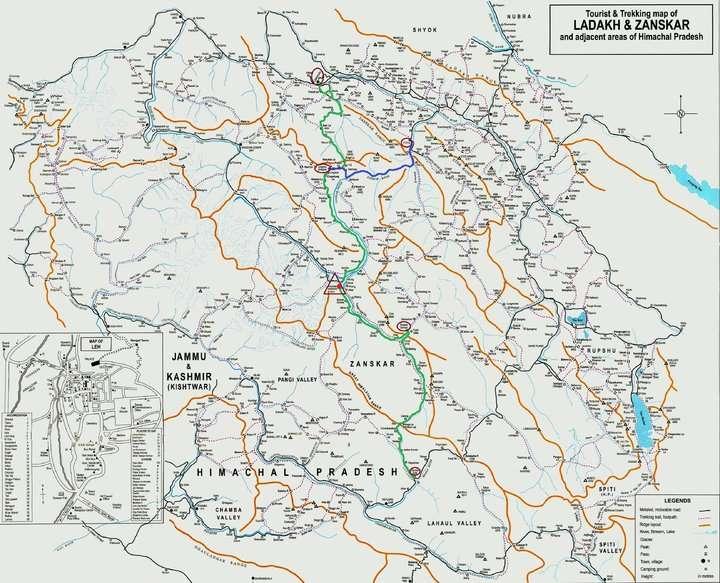 失落的山谷Zanskar地圖