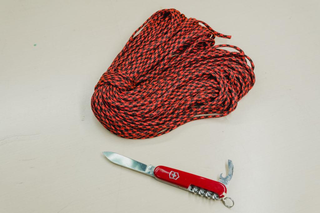 登山打包技巧繩索小刀