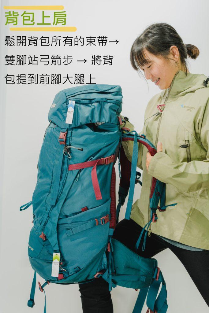 挑選登山背包 背包上肩